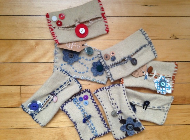 Upcycled Sweater Pouches