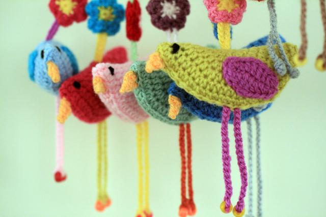 Crochet Birdie Decorations