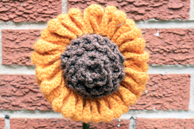 Crochet Sunflower Head