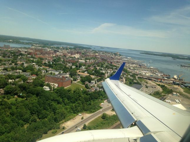 Portland Maine from the air