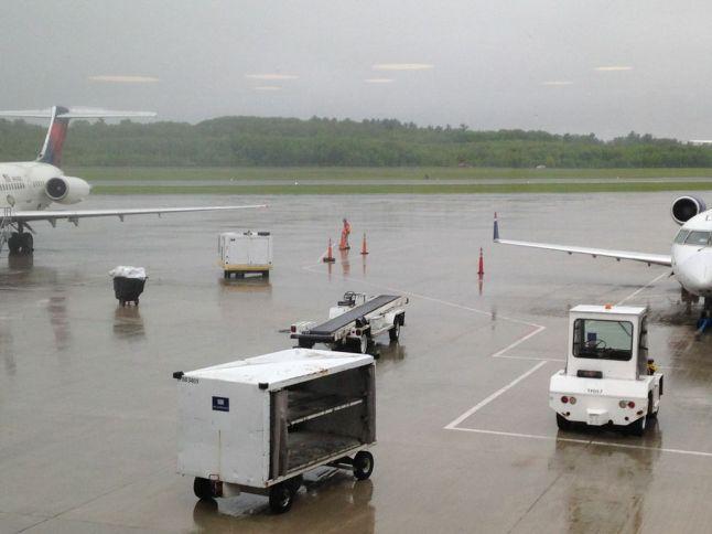 Foggy Portland Maine Jetport