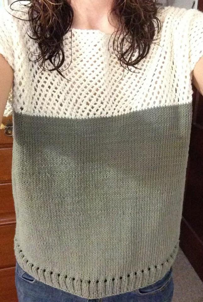 Merino Wool Cap Sleeve Sweater