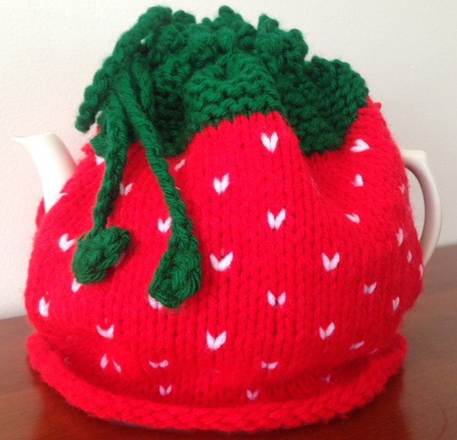 Finished Object Strawberry Teapot Cozy