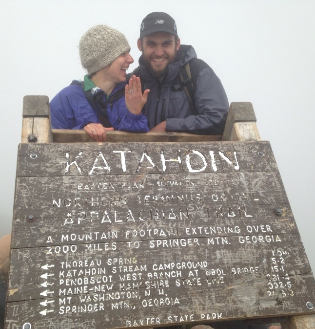 Proposal on the summit of Katahdin
