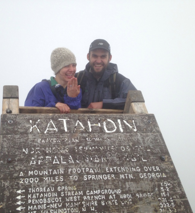 Proposal on the summit of Mt Katahdin