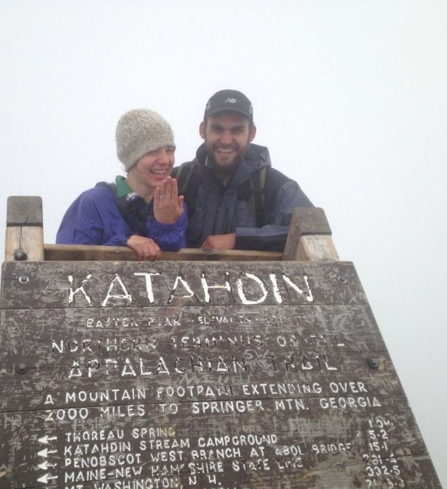 Proposal on the summit of Mt Katahdin