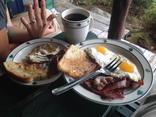 Ring photobombing breakfast