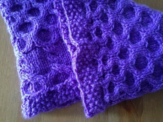 Bumble Berry Cabled Cowl