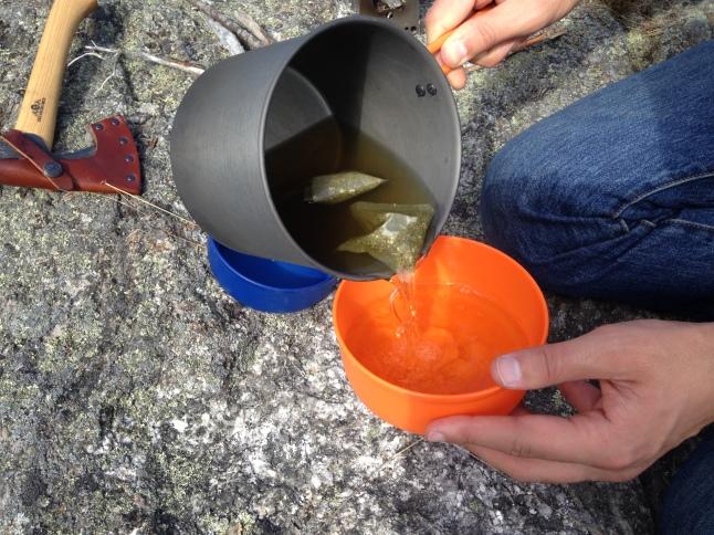 Making tea on the trail