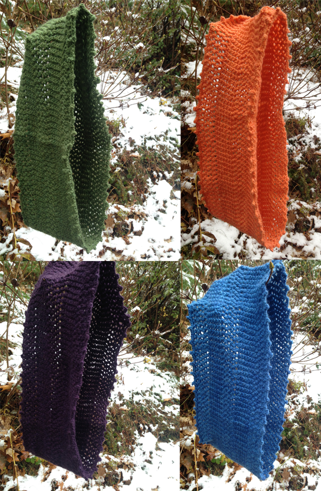 Four colors of Equinox Cowl