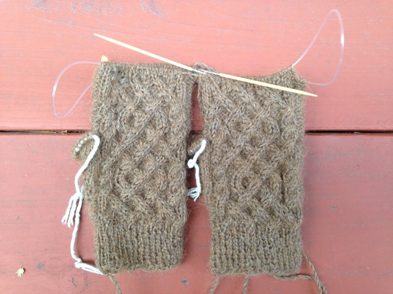 First Snow Fingerless Mitts