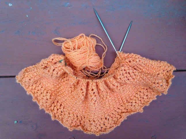 Equinox Cowl in Peach
