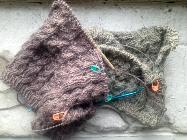 Easport Alpaca Yarn cabled baby sweaters