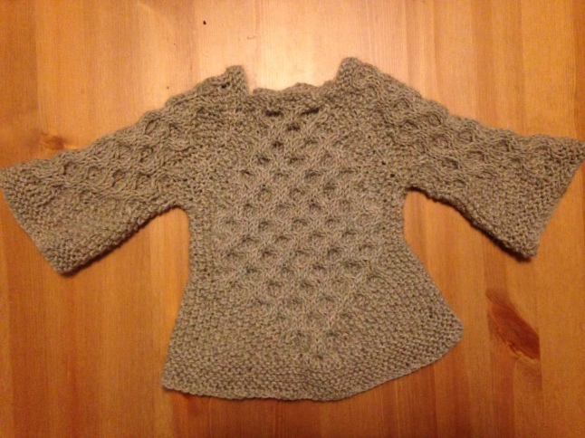 honeycomb baby sweater